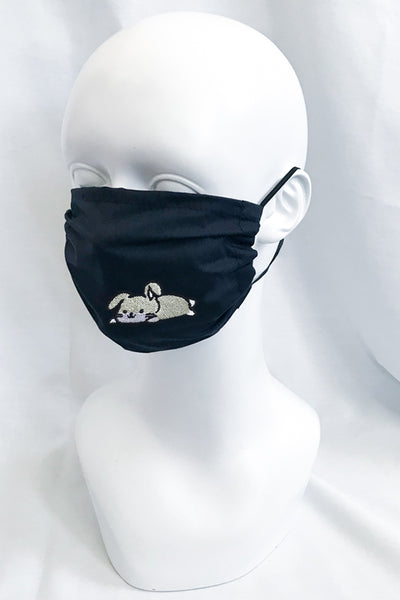 Embroidered Bunny Face Mask