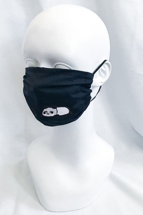 Embroidered Panda , Brown & Ice Bear Face Mask