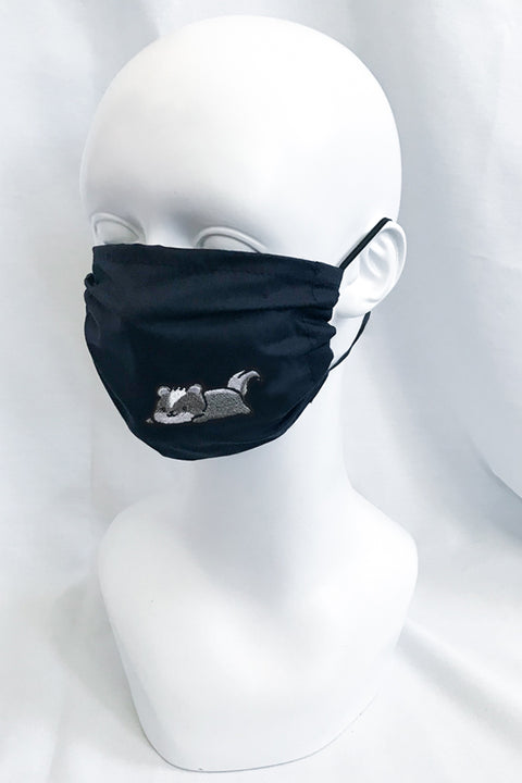 Embroidered Skunk Face Mask