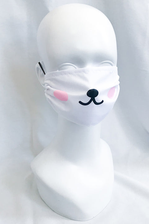 Blushing Bear Face Mask