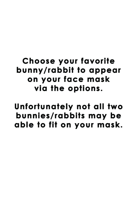 Fun Loving Bunny Rabbit Flower Pastel Cotton Fabric Face Mask