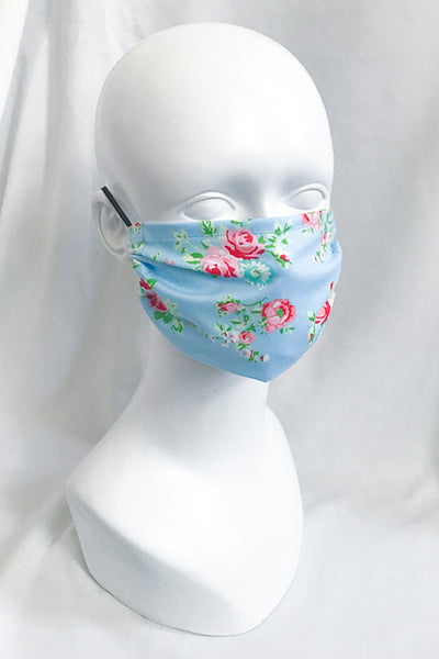 Pink Rose Flower Cotton Face Mask (more colors)