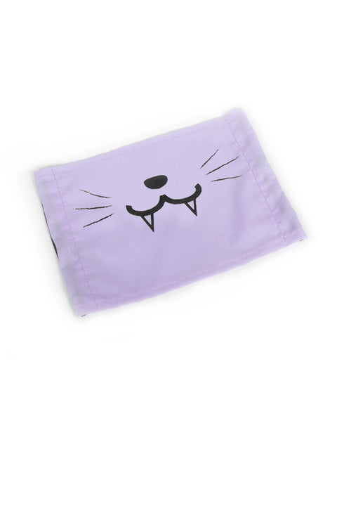 Cute Kitty Face Mask (with Fangs) - Pink, Light Pink or Light Purple