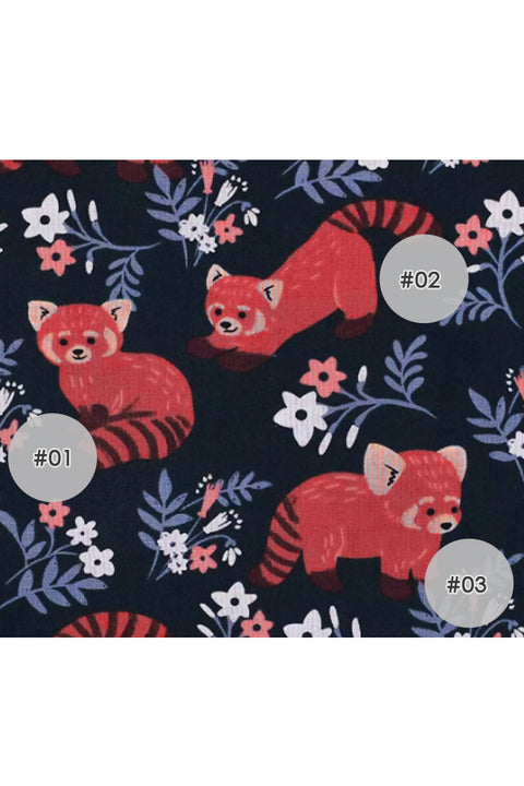 Playful Red Panda Fox Cotton Fabric Face Mask