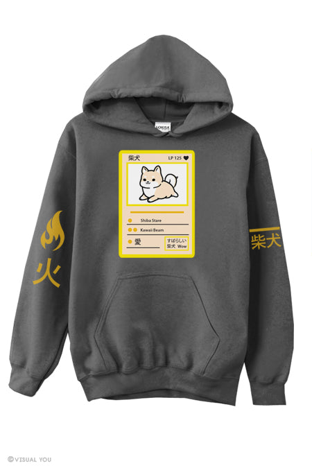 火 Fire Shiba Power Badge Hoodie