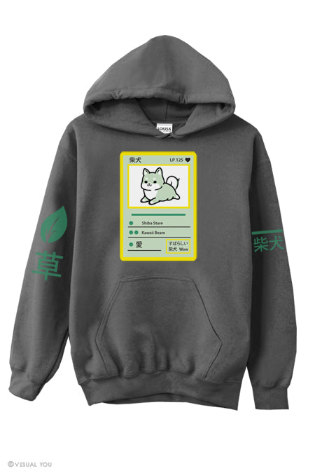 草 Grass Shiba Power Badge Hoodie