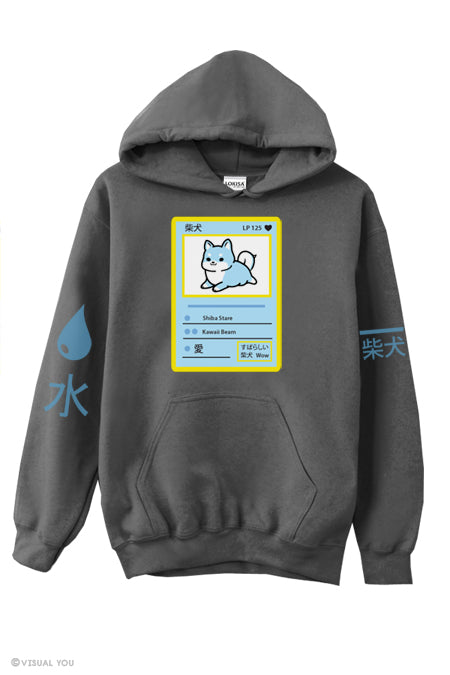 水 Water Shiba Power Badge Hoodie