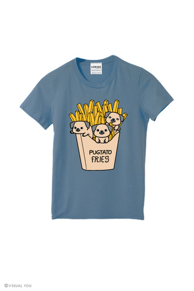 Pugtato Fries Pug T-Shirt (Kids)