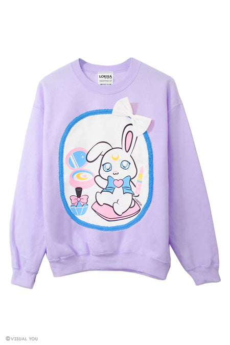 Magical Girl Make up Moon Bunny Sweatshirt