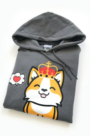 Corgi King in Love Hoodie - Small - 2ND CHANCE