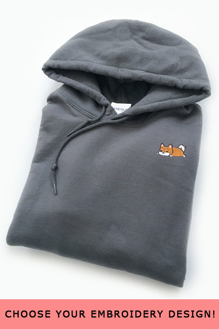 Embroidered Hoodie (Charcoal) - Small - 2ND CHANCE