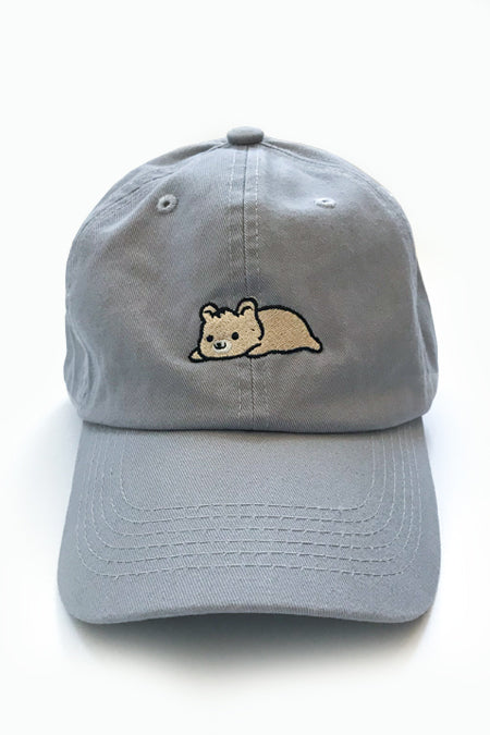 Relaxing Gold Bear Dad Cap - Light Grey - SAMPLE SALE