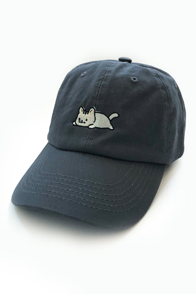 Copy of Relaxing Kitty Dad Cap - Charcoal - CLEARANCE