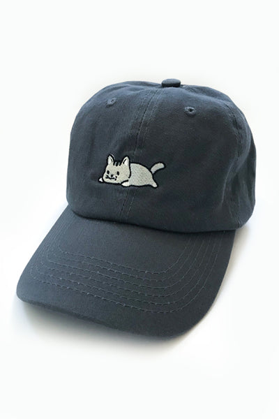 Relaxing Kitty Dad Cap - Charcoal - SAMPLE SALE