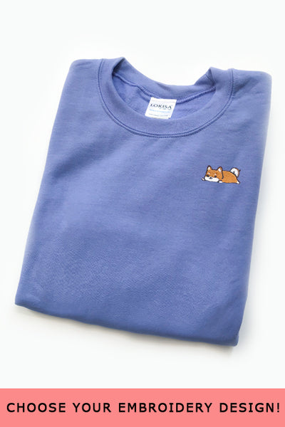 Embroidered  Sweatshirt (Carolina Blue) - Small - SAMPLE SALE