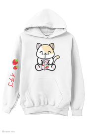 Strawberry Milk Box Kitty Hoodie