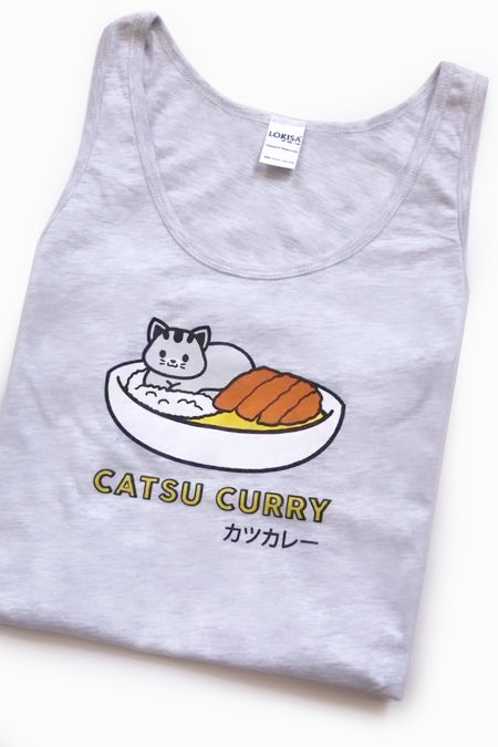 Catsu Curry Kitty Cat Tank Top