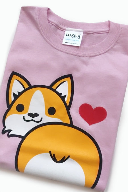 I love Corgi Butt T-Shirt (Kids)