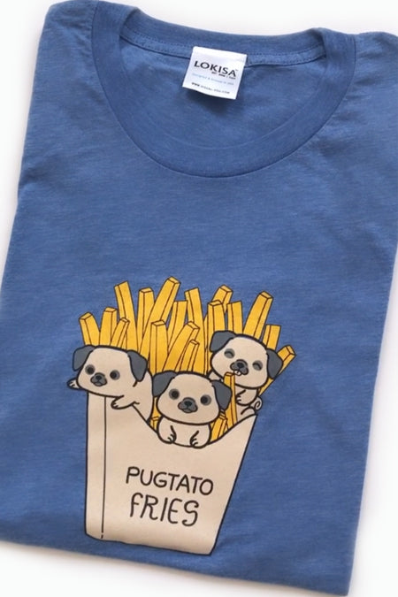 Pugtato Fries Pug T-Shirt