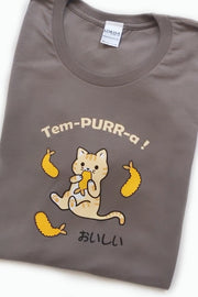 Tem-PURR-a Tempura Kitty Cat T-Shirt