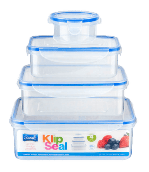 4 Piece Clip-Seal Food Storage Containers