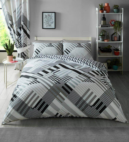 bedding-Geo Stripe Grey