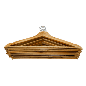 Set of 8 Wooden Coat Hangers