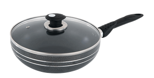 28cm Non-Stick Wok with Glass Lid