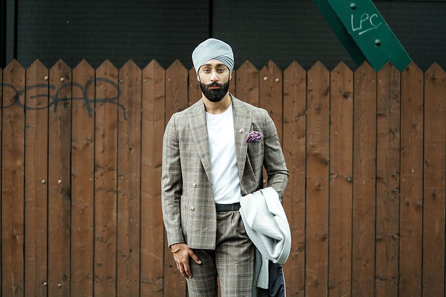 matching turban to suit