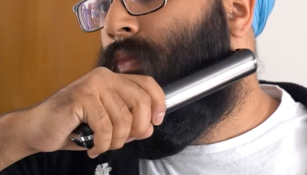 how to use the cordless beard straightener
