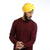 Sunflower Yellow Rubia Voile Turban - The Sardar Co