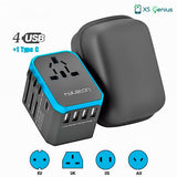XS Genius™ Power Up - Universal Travel Power Adapter & Socket Converter