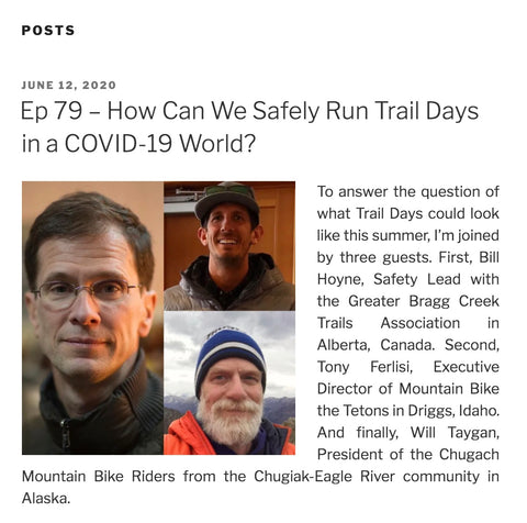 Ep 79 – How Can We Safely Run Trail Days in a COVID-19 World?