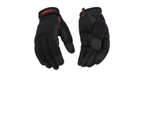 KincoProTM Black Synthetic Pull-Strap Gloves