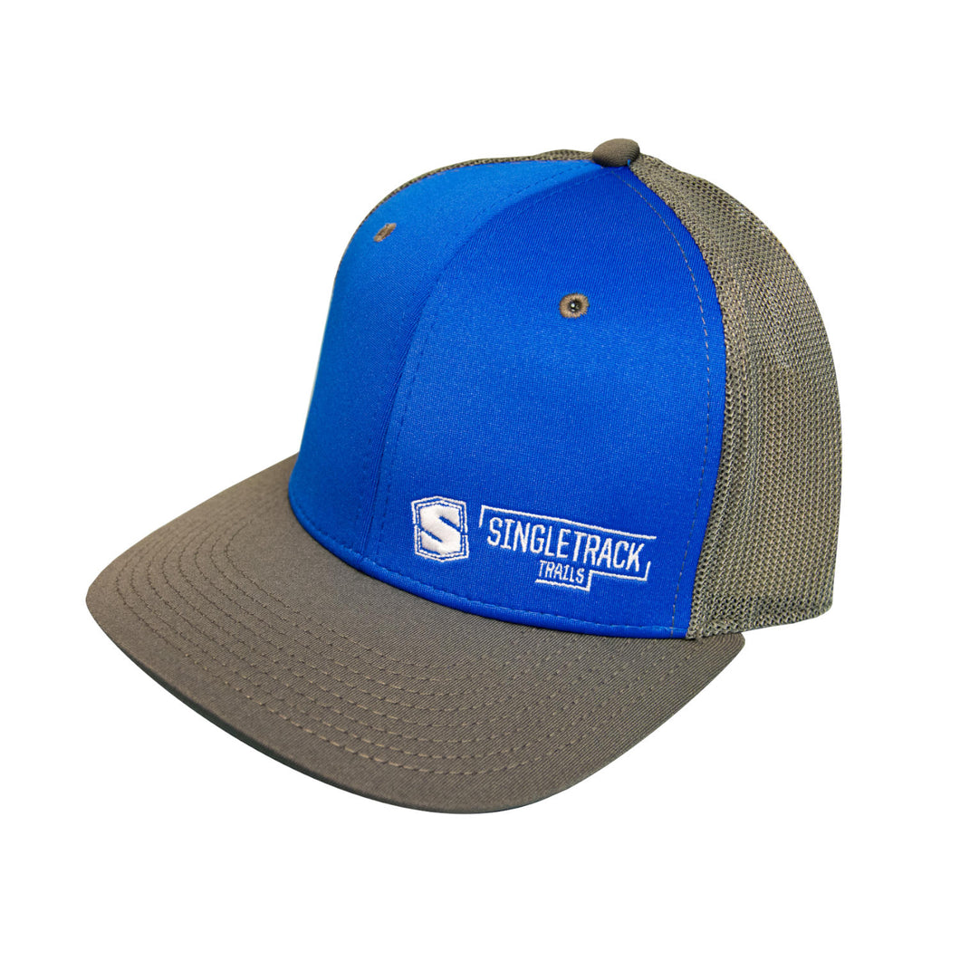 STI Snapback Hat - Blue & Gray