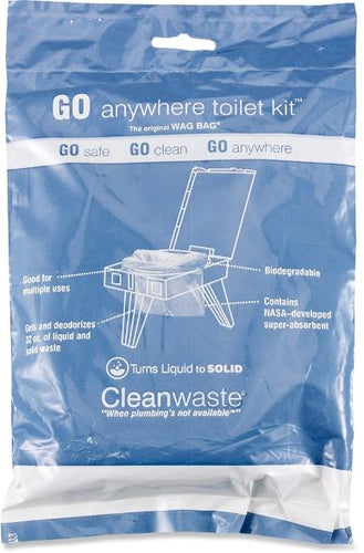 cleanwaste go anywhere toilet kit waste bags