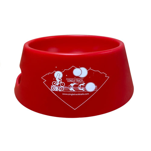 silipint ricochet red folding dog bowl