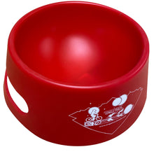 Load image into Gallery viewer, angled silipint ricochet red foldable dog bowl