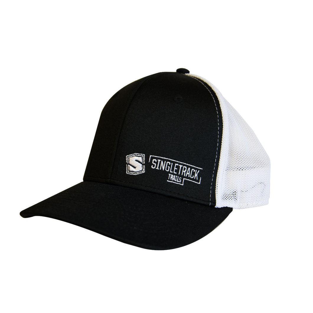 STI Snapback Hat - Black & White