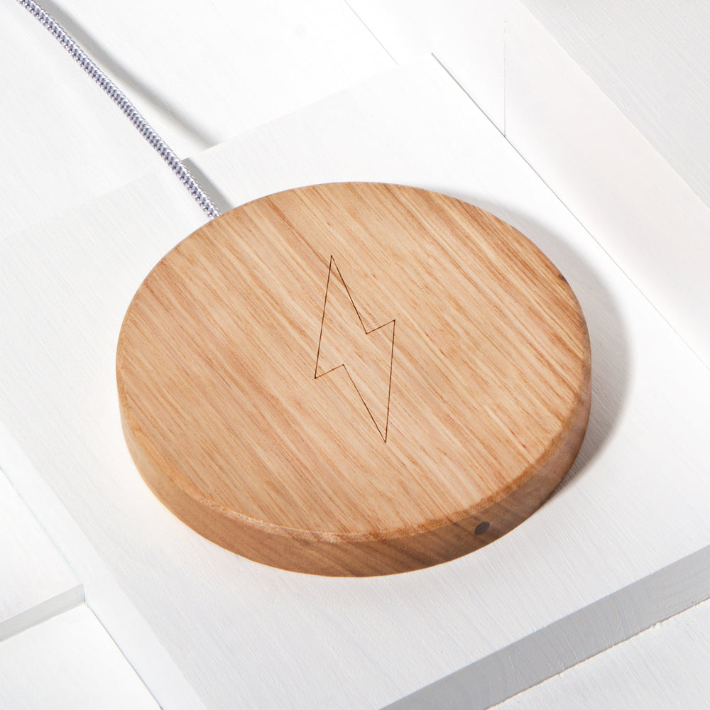 The Disc Wireless Charger in Tasmanian Oak