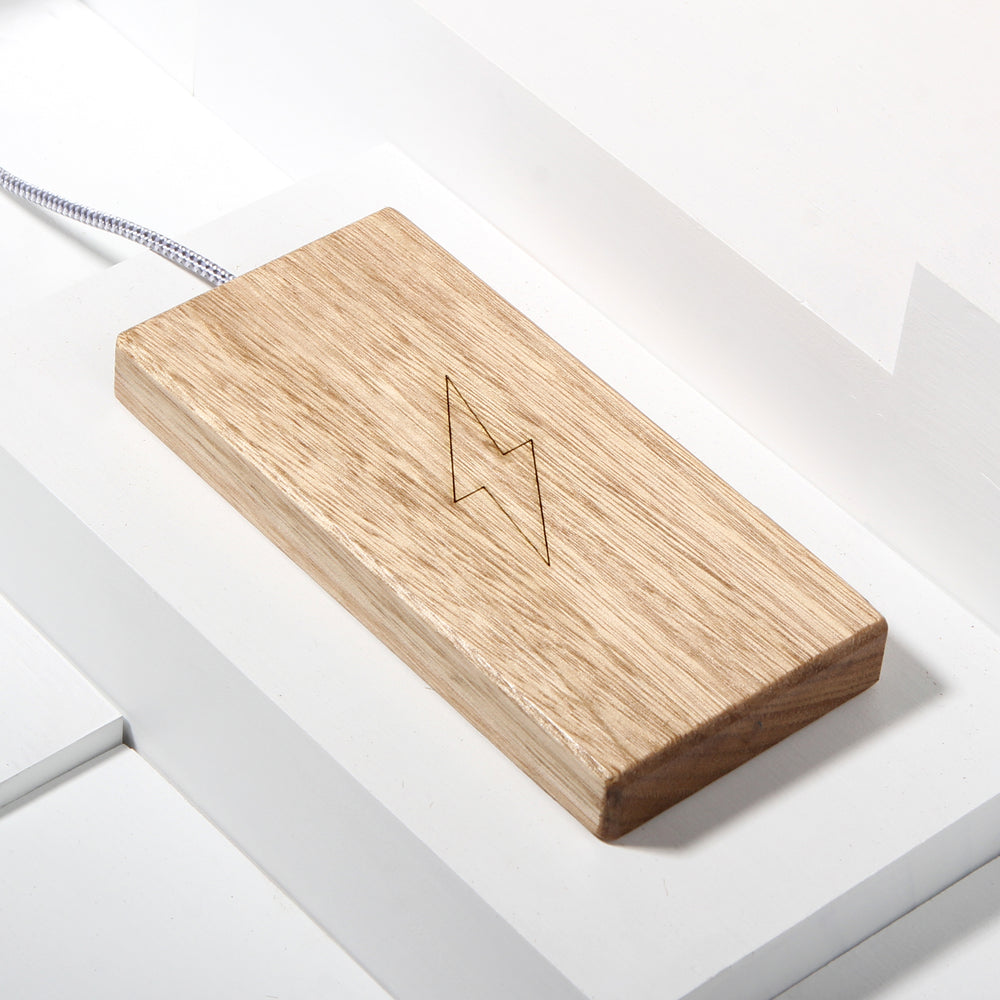 The Plank Wireless Charger in Tasmanian Oak