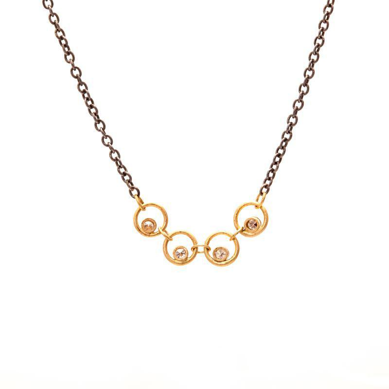 Diamond in Circle Necklace