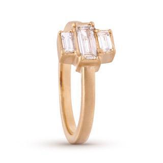 Deco Stacked Baguette Ring