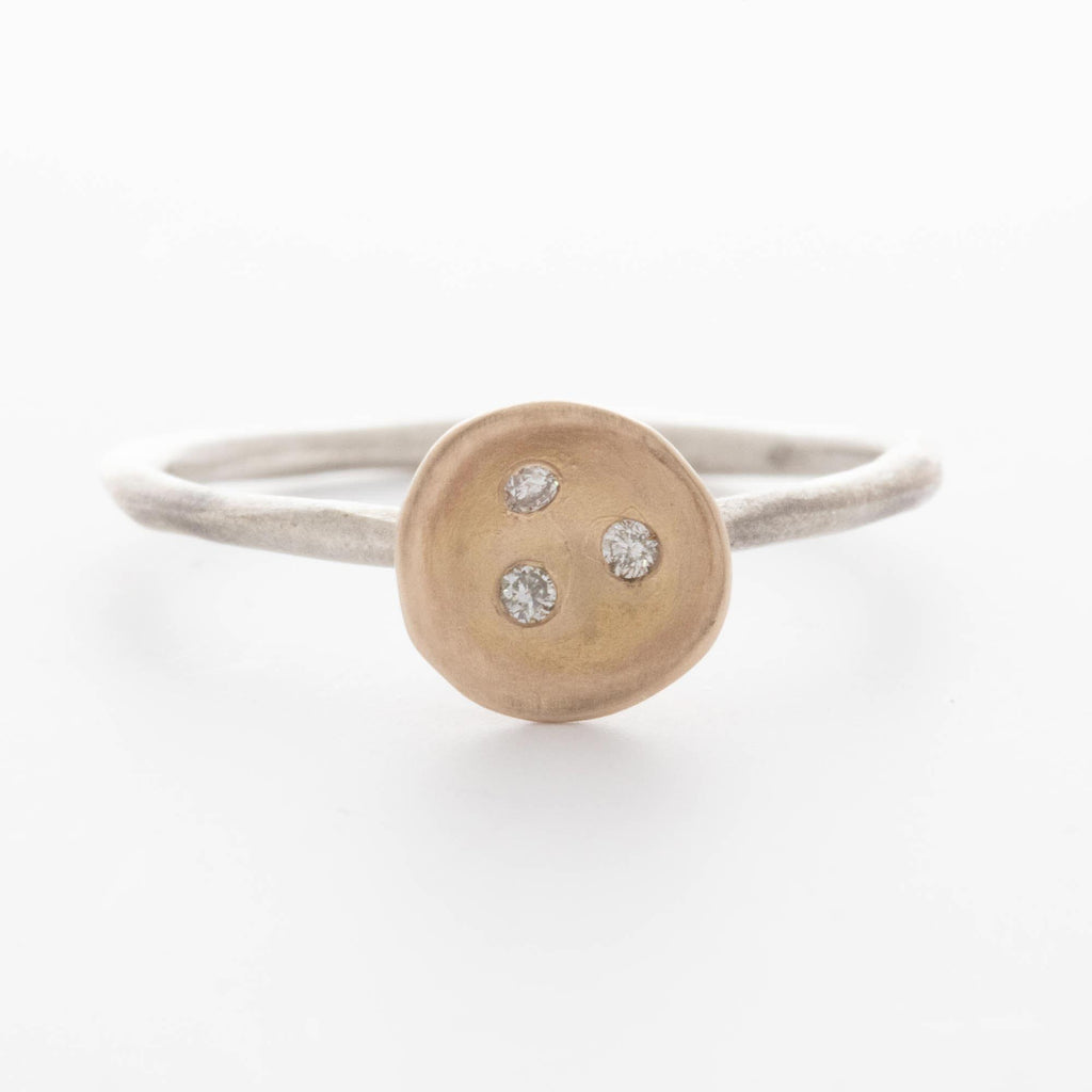 Diamond Nest Ring, Two-Tone