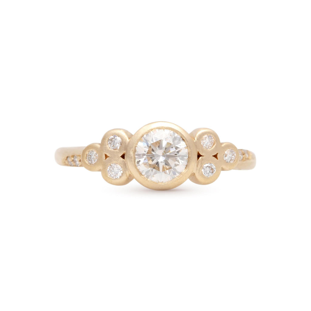 Clover Cluster Diamond Ring
