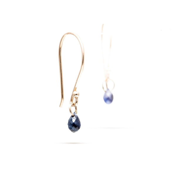 Blue Sapphire Briolette Earrings