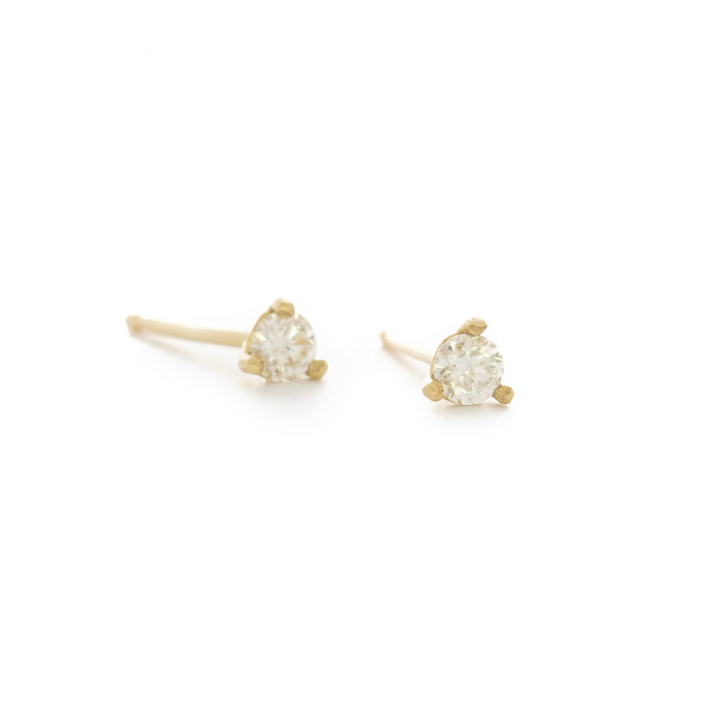 Diamond Cocktail Prong Studs