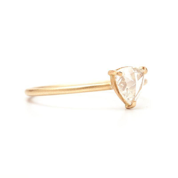 Clear Rose-cut Triangle Stacking Ring