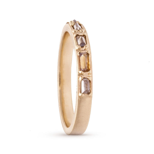 Fancy Colored Baguette Ring