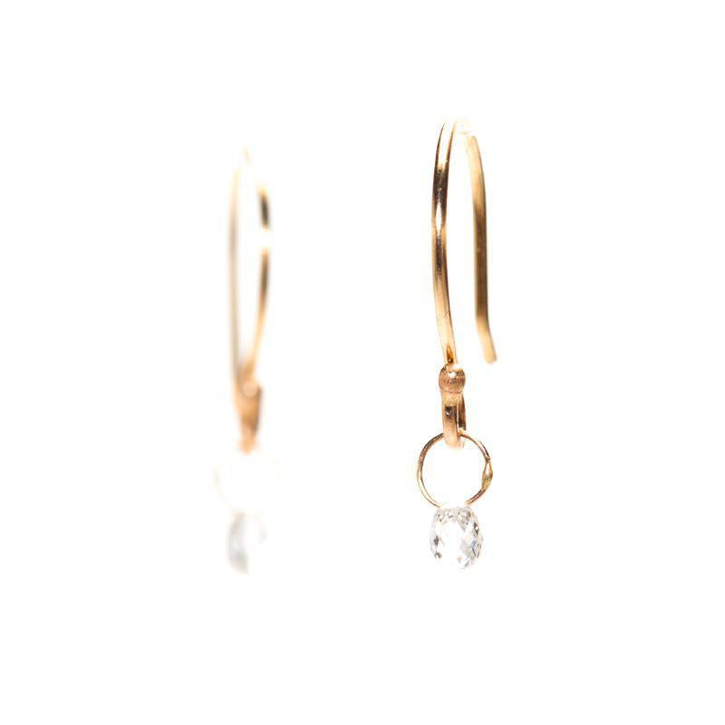 White Diamond Brio Earrings